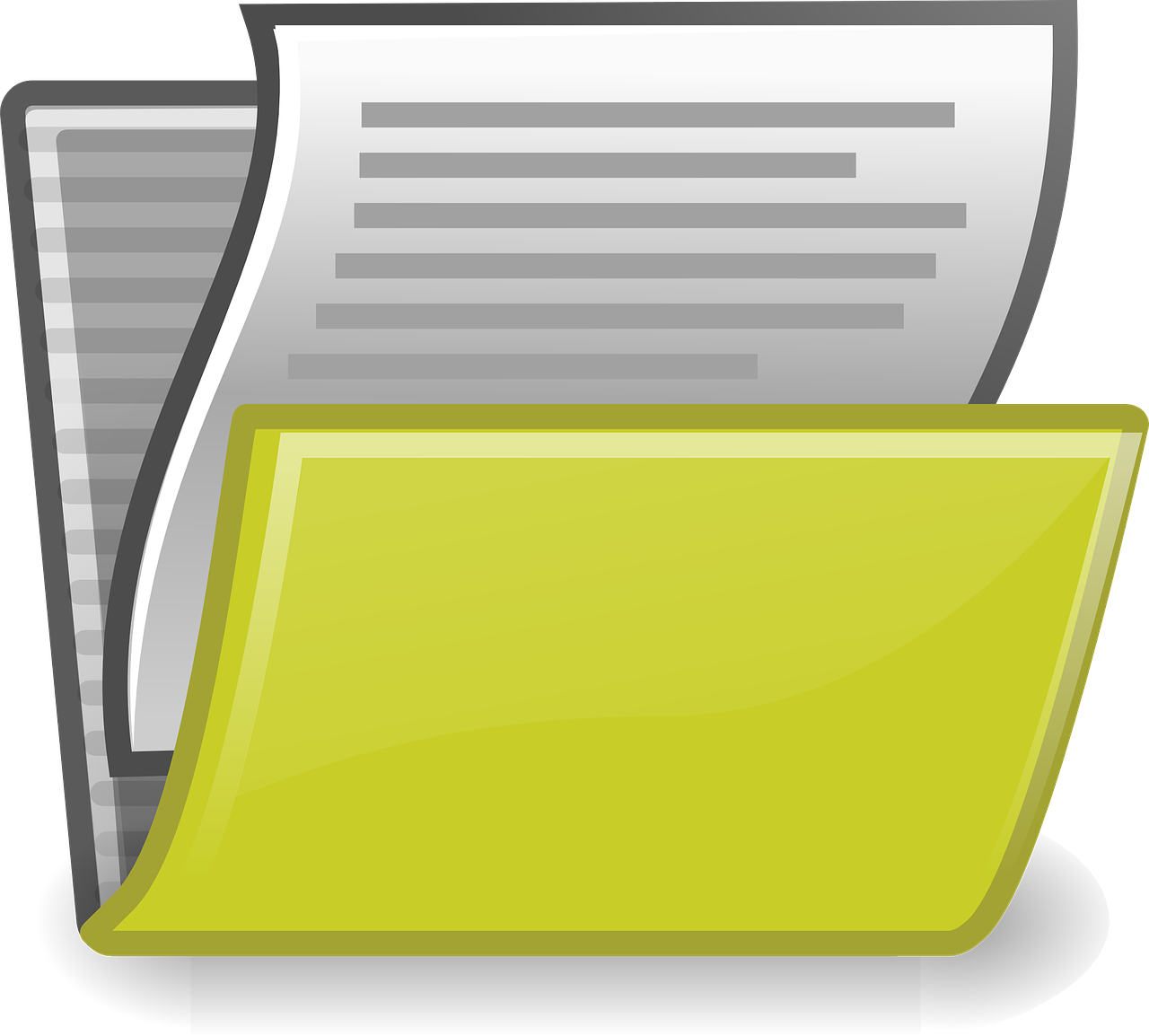 Рисунок папки с документами